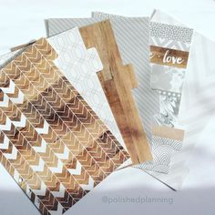 These A5 size wood grain and chevron dividers are now available in the shop!  by polishedplanning
