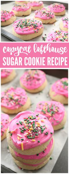 This Copycat Lofthouse Sugar Cookie Recipe with Frosting is one of my FAVORITE new recipes and you've got to try it today!