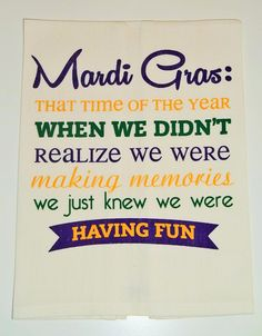 Mardi Gras Kitchen Towel