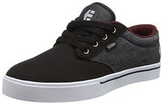 Etnies Men's Jameson 2 ECO Skate Shoe, Black/Red/Black, 12 D US: Color-blocked skater sneaker in cupsole construction featuring lace-up…