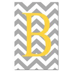 Chevron Initial - Chevron Monogram - Large Print - Nursery Art - Kids Wall Art - Teen - Choose Your Colors - Chevron Design Pattern Art Wall Kids, Art For Kids, Baby Art, Lilo And Stitch, Nursery Art, Wedding Cards, Initials, Crochet Patterns, Bedroom Decor