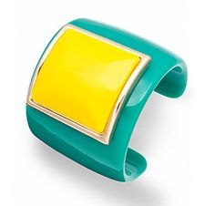 plastic teal and yellow cuff