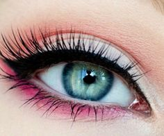 Blushy-pink eyes against her sea-green eyes are to die for. Visit us at Beauty.com for the finest beauty products.