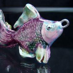Ceramic fish pendant