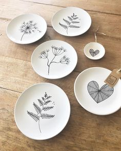 Signed many webshop orders this afternoon, pack now # surfacedesign… - - Ceramic Cafe, Ceramic Bowls, Ceramic Pottery, Pottery Art, Pottery Painting, Ceramic Painting, Art Café, Paint Your Own Pottery, Plate Art