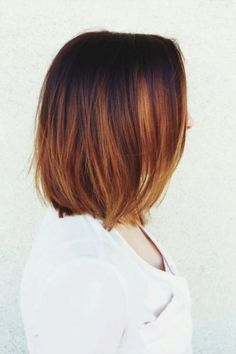 Cool Ombre Hair Color Ideas # Informations About Coole Ombre-Haarfarbe-Ideen – Frisuren 2019 Pin You Auburn Balayage Copper, Copper Ombre, Copper Hair, Copper Color, Hair Color Auburn, Ombre Hair Color, Brown Hair Colors, Auburn Hair, Hair Colour
