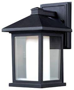 Z Lite 523S Outdoor Wall Light - contemporary - outdoor lighting - Lighting Front