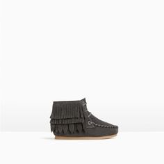 FRINGED LINED LEATHER BOOTS-SHOES AND BAGS-BABY GIRL | 3 months-3 years-KIDS | ZARA United States