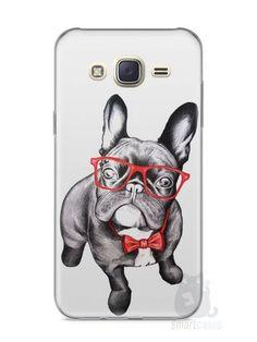 Capa Capinha Samsung J7 Cachorro Bulldog Francês Estiloso