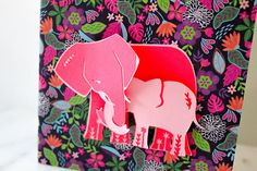 Elephant Baby Shower Card New Baby Card Congratulations Baby
