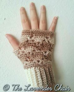 Vintage Fingerless gloves - Free Crochet Pattern - The Lavender Chair