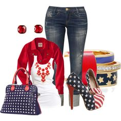 RWB Shoes, created by hope-houston on Polyvore