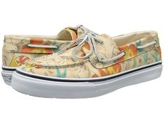 Sperry Top-Sider Bahama 2-Eye Vulc Hawaiian Print-these are so cool!  My sons love them!  They resemble a Hawaiian shirt without being too flashy.  A must have if you are into boat shoes!