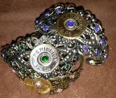 Shotgun shell cuff bracelet