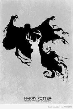 Love the way this is portrayed. Even light is found in the darkest of times. Light is the potronus and the dark is the dementor.