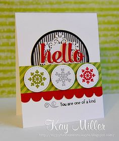 Card by PS GDT Kay Miller using the PS Quote Tags dies and Fresh Snow stamp set