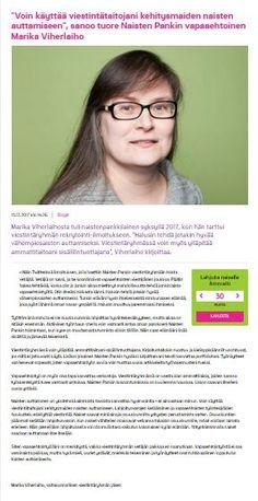 Naisten Pankille kirjoittamani blogikirjoitus henkilökohtaisista syistäni ryhtyä vapaaehtoiseksi.
