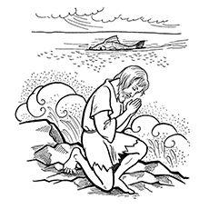 Kids Bible Worksheets-Free, Printable Jonah and the Big