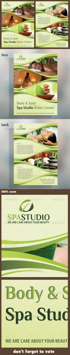 Spa Studio Flyer 05  #GraphicRiver        The Pack included:   PSD Flyer Template  A5 – 148×210mm   154×216mm Print size  5.9×8.3 inches  Print Ready  CMYK, 300dpi  High Quality   Bleeds, Guidlines, safe lines  Highly Organised Layers  Clean Design  Preview Images are not included in the download.  Editable Logo included  Read me file (included instrucions)   Free Fonts used:   Font 1: Myriad Pro (system font)  Font 2:  .dafont /philosopher.font   Maybe you…