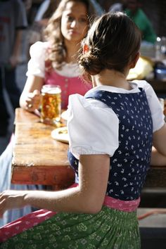 #Dirndl . like the blue dirndl . could be me from the back (but only wear Dirndl at the Octoberfest) .