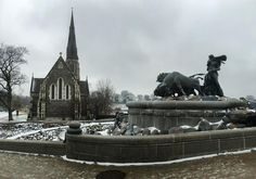 The #Anglican #Church of St. Alban and a statue dedicated to the countries of #Scandinavia. #culture #religion #art #bulls #architecture #Denmark #IgersDenmark #Copenhagen #københaven #leisure #life #travel #tourism #tourist