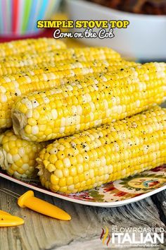 Simple Stove Top Corn on the Cob