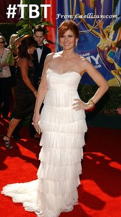 Hollywood Beauty Debra Messing.  At the 2006 Emmy Awards, she wore beautiful…