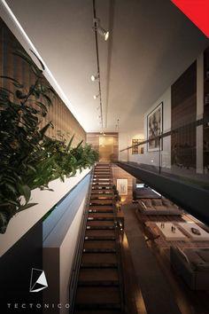 Casa de Campo Querétaro: Pasillo, hall y escaleras de estilo Minimalista por Tectónico