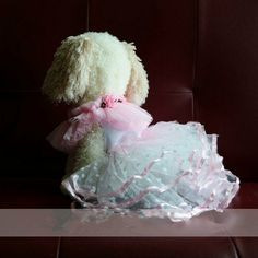 Pet clothes Pink peach heart pet dress  dog wedding by kelifastner, $19.90
