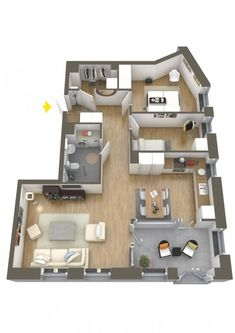 Two Bedroom Apartment House Plans Ensuite Bathrooms