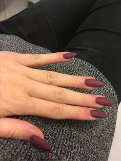 #nails #paznokcie #bordowe #2017