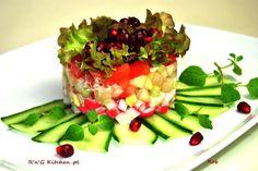 R'n'G Kitchen: Sałatka z paluszków krabowych z warzywami i owocam...