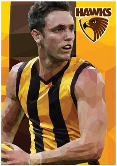 Each players level of detail went up as I went through this process, Gunston being the lowest up to Jordan Lewis. Australian Football League, Triangle Art, Winter Sports, Hawks, Club, Stars, Awesome, Design, Falcons