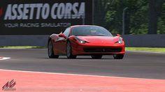 Ferrari 458 Italia officially licensed for Assetto Corsa racing game