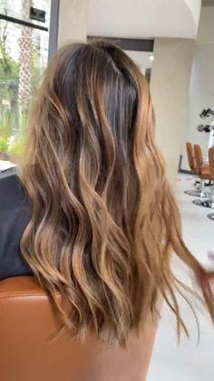 Cabelo Ombre Hair, Baliage Hair, Sombre Hair, Brown Hair Balayage, Hair Color Balayage, Hair Highlights, Dark Blonde Ombre Hair, Balayage Hair Brunette Caramel, Carmel Balayage
