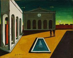 "Love his paintings, they all feel like a dream.    ""The Roman arcade is fate.""  -Georgio de Chirico"