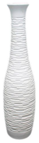 Amazon.com - UTC 20107 White Ceramic Vase with Matte