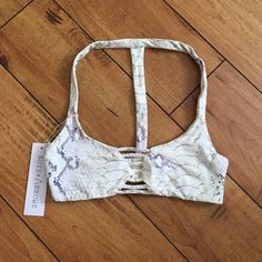 Boys + Arrows Snake Print Bikini Top New! EXCELLENT CONDITION! Willing to trade for other Boys+ Arrows, coulbourne, Frankies, or Posh. Boys + Arrows Swim Bikinis