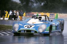 Le Mans, 1972. Graham Hill on his way to win in a Matra.