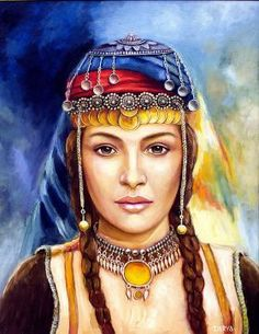 Fantasy Art Women, Fantasy Girl, Woman Painting, Figure Painting, Gypsy Culture, Oil Pastel Paintings, Pics Art, Arab Women, Iranian Art