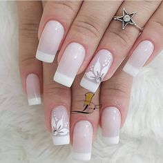Funky Nails, Cute Nails, Romantic Nails, French Nail Art, Pretty Nail Art, Stylish Nails, Nail Manicure, Swag Nails, Beauty Nails