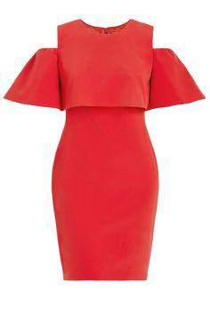 ML MONIQUE LHUILLIER Cocktail Dress With Cold Shoulder Size-inclusive designer luxury Plus-size fashion