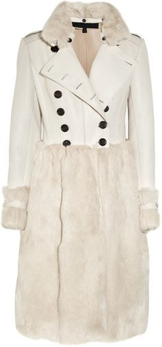 BURBERRY PRORSUM Nappa Leather and Rabbit Coat - Lyst