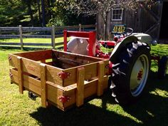 Carry all with oak sides and tail gate 8n Ford Tractor, Utility Tractor, Tractor Implements, Old Farm Equipment, Farm Toys, Old Fords, Kubota, Small Engine, Tail Gate