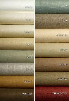 Schumacher Fabric Middleton Linen Flax 93216 Linen Martindale Horizontal: - and Vertical: - 54 - My Fabric Connection - Colour Pallete, Colour Schemes, Drapery Fabric, Linen Fabric, Cotton Fabric, Curtains, Color Mixing Chart, Color Combinations For Clothes, Ideas Hogar