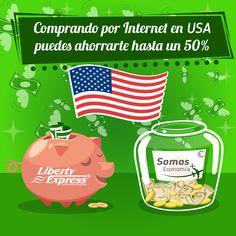 Comprando por internet en Estados Unidos puedes ahorrarte hasta un 50% respecto a las compras en tu mercado local.