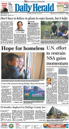 Daily Herald front page, Oct. 27, 2013; http://eedition.dailyherald.com/;