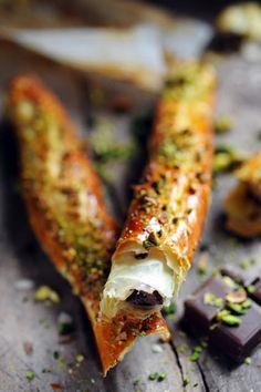 Allumettes au choco'pistache