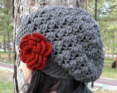 Knit Hat Winter Hat beret in Oatmeal beige Womens Hat by Ebruk