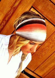 Coral Stretchy Headband - Gradient Gauze Women's wide hair band urban turban head wrap headband from three bird nest. Scarf Hairstyles, Pretty Hairstyles, Motorcycle Hairstyles, Helmet Hair, Stretchy Headbands, Head Wrap Headband, Hair Affair, Estilo Boho, Hair Shampoo